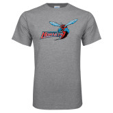 Grey T Shirt-Delaware State Hornets w/Hornet Distressed