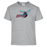 Youth Sport Grey T Shirt-Delaware State Hornets w/Hornet
