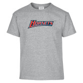 Youth Grey T-Shirt-Hornets