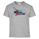Youth Grey T-Shirt-Lil Hornets w/ Baby Hornet