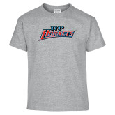 Youth Sport Grey T Shirt-Lil Hornets