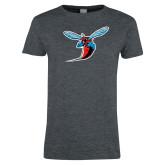 Ladies Dark Heather T Shirt-Hornet