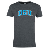 Ladies Dark Heather T Shirt-Arched DSU