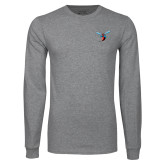 Grey Long Sleeve T Shirt-Hornet