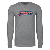 Grey Long Sleeve T Shirt-Delaware State Hornets
