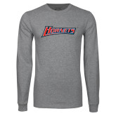 Grey Long Sleeve T Shirt-Hornets