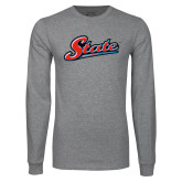 Grey Long Sleeve T Shirt-State