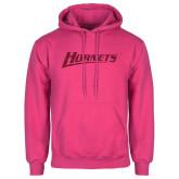 Fuchsia Fleece Hood-Hornets