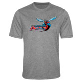 Performance Grey Heather Contender Tee-Delaware State Hornets w/Hornet