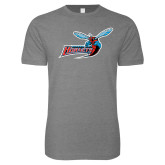 Next Level SoftStyle Heather Grey T Shirt-Delaware State Hornets w/Hornet