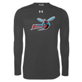 Under Armour Carbon Heather Long Sleeve Tech Tee-Delaware State Hornets w/Hornet