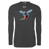 Under Armour Carbon Heather Long Sleeve Tech Tee-Hornet