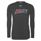 Under Armour Carbon Heather Long Sleeve Tech Tee-Delaware State Hornets