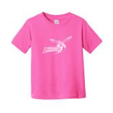 Toddler Fuchsia T Shirt-Delaware State Hornets w/Hornet