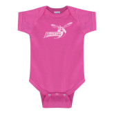 Fuchsia Infant Onesie-Delaware State Hornets w/Hornet