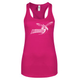 Next Level Ladies Raspberry Ideal Racerback Tank-Delaware State Hornets w/Hornet
