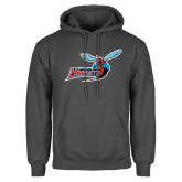 Charcoal Fleece Hoodie-Delaware State Hornets w/Hornet