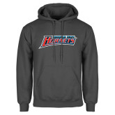 Charcoal Fleece Hoodie-Delaware State Hornets