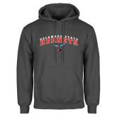 Charcoal Fleece Hoodie-Delaware State University w/Hornet