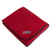 Red Arctic Fleece Blanket-Delaware State Hornets