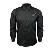 Red House Black Long Sleeve Shirt-Delaware State Hornets w/Hornet