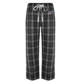 Black/Grey Flannel Pajama Pant-Delaware State Hornets w/Hornet