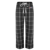 Black/Grey Flannel Pajama Pant-Delaware State Hornets