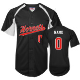 Replica Black Adult Baseball Jersey-Softball