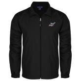 Full Zip Black Wind Jacket-Delaware State Hornets w/Hornet