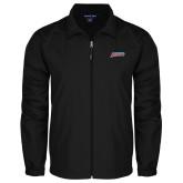 Full Zip Black Wind Jacket-Delaware State Hornets