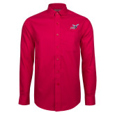 Red House Red Long Sleeve Shirt-Delaware State Hornets w/Hornet