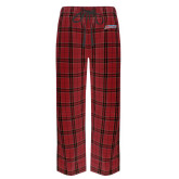 Red/Black Flannel Pajama Pant-Delaware State Hornets