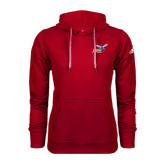 Adidas Climawarm Red Team Issue Hoodie-Delaware State Hornets w/Hornet