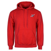 Red Fleece Hoodie-Delaware State Hornets w/Hornet