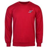 Red Fleece Crew-Delaware State Hornets w/Hornet