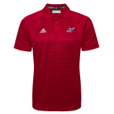 Adidas Climalite Red Jaquard Select Polo-Delaware State Hornets w/Hornet