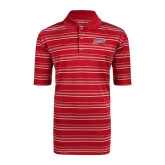 Adidas Climalite Red Textured Stripe Polo-Delaware State Hornets