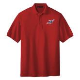 Red Easycare Pique Polo-Delaware State Hornets w/Hornet