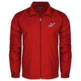 Full Zip Red Wind Jacket-Delaware State Hornets w/Hornet
