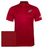 Adidas Climalite Red Game Time Polo-Delaware State Hornets w/Hornet