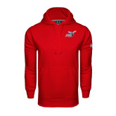 Under Armour Red Performance Sweats Team Hoodie-Delaware State Hornets w/Hornet