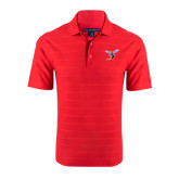 Red Horizontal Textured Polo-Hornet
