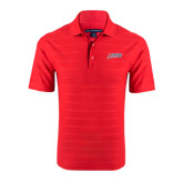 Red Horizontal Textured Polo-Delaware State Hornets