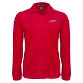 Fleece Full Zip Red Jacket-Delaware State Hornets