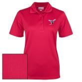 Ladies Red Dry Mesh Polo-Hornet
