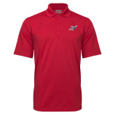 Red Mini Stripe Polo-Delaware State Hornets w/Hornet