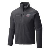 Columbia Full Zip Charcoal Fleece Jacket-Delaware State Hornets w/Hornet