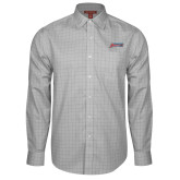 Red House Grey Plaid Non Iron Long Sleeve Shirt-Delaware State Hornets