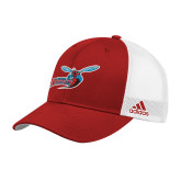 Adidas Red Structured Adjustable Hat-Delaware State Hornets w/Hornet