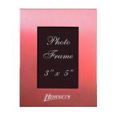 Pink Brushed Aluminum 3 x 5 Photo Frame-Hornets Engraved